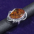 Amber Leaves: Amber Silver Spirals Ring - www.avalonstreasury.com [112 x 112 px]